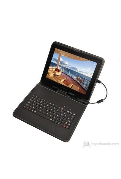 """Mobee 9.7"""" Ayaklı Siyah Türkçe Mikro USB Klavyeli Tablet Kılıfı"""