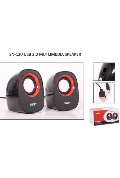 Snopy SN-120 2.0 Siyah Usb Speaker (8964)