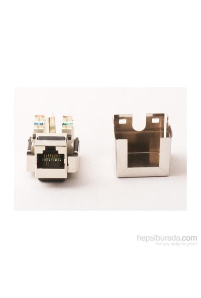 Vcom Nm225 Cat6 Utp Metal Keystone Jack 10Lu Paket