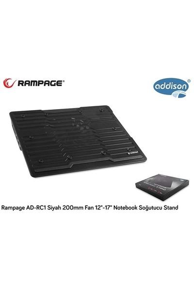 "Rampage Ad-Rc1 Siyah 200Mm Fan 12""-17"" Notebook Soğutucu Stand"