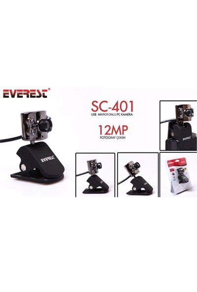 Everest Sc-401 Usb Mikrofonlu Pc Kamera