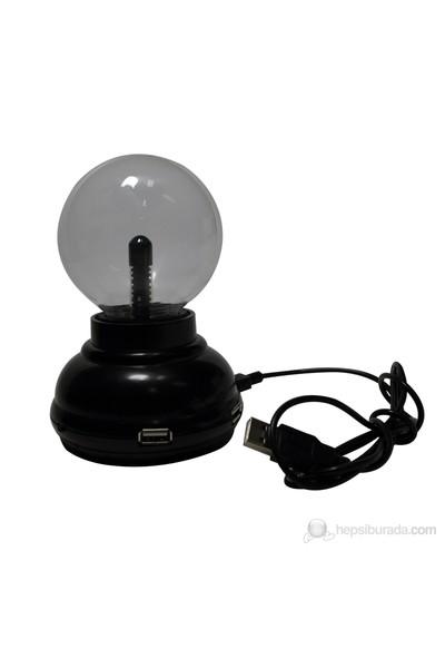 """Greenlife 6036B Işıklı Küre 3""""Plazma Işıklı USB Hub"""