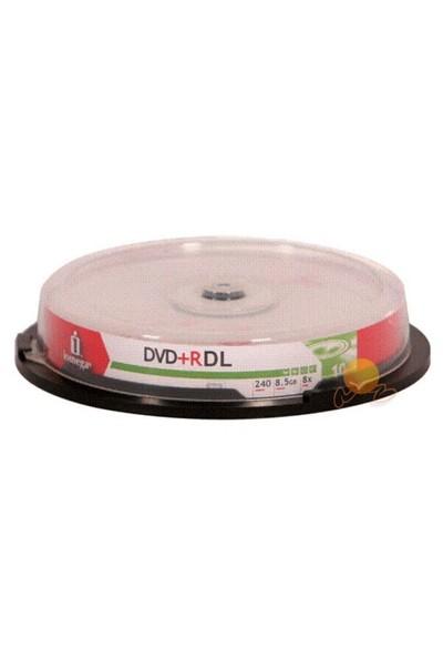 Iomega 240 Dk 8.5GB 8X Double Layer DVD+R 10' lu Cakebox
