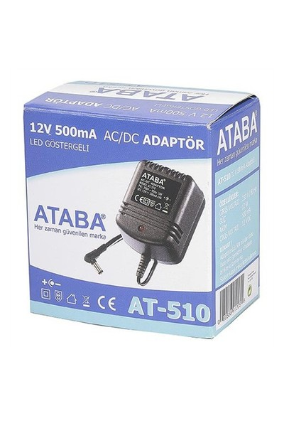 Ataba At-510 12W, 12V 500Mah Telefon Adaptörü