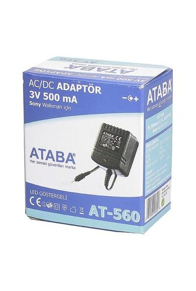Ataba At-560 5W, 3V 500Mah Walkman - Sony Adaptörü