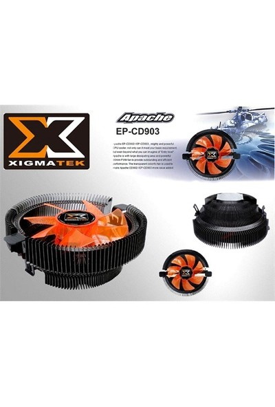 Xigmatek Ep-Cd903 Apache Am2/939/Lga/1156 Cpu Fan