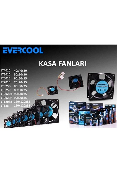 Evercool JT5010 50*50*10mm Kutulu Kasa Fanı