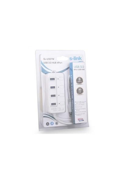 S-Link Sl-U307w S-Lınk Usb 3.0 4Port Usb Hub