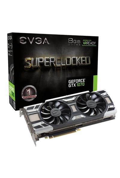 EVGA Nvidia GeForce GTX 1070 SuperClocked ACX2.0+ 8GB 256Bit GDDR5 (DX12) PCI-E 3.0 Ekran Kartı (08G-P4-6173-KR)