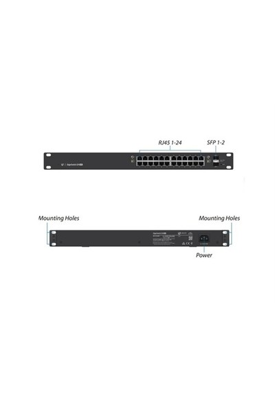 Ubiquiti Ubnt Es-24-500W 24 Port 10/100/1000Mbps Gigabit Ethernet Edgeswıtch Switch Hub