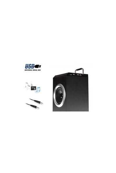 Mikado Md-903Bt 30W + 10W*2 + 5W*2 Siyah Fm Destekli Kule Multimedia Bluetooth Speaker