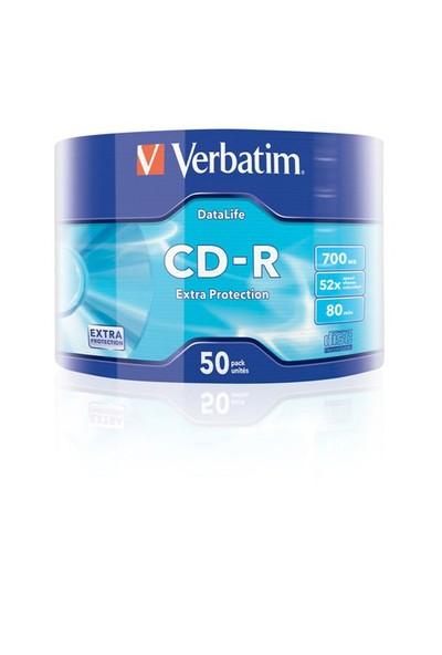 Verbatim CD-R 700MB 80 Dakika 52X Hızında 50'li Spindle 43787