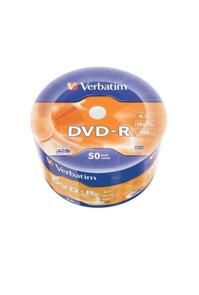 Verbatim DVD-R 4.7GB 16X Hızında 50'li Spindle 43788