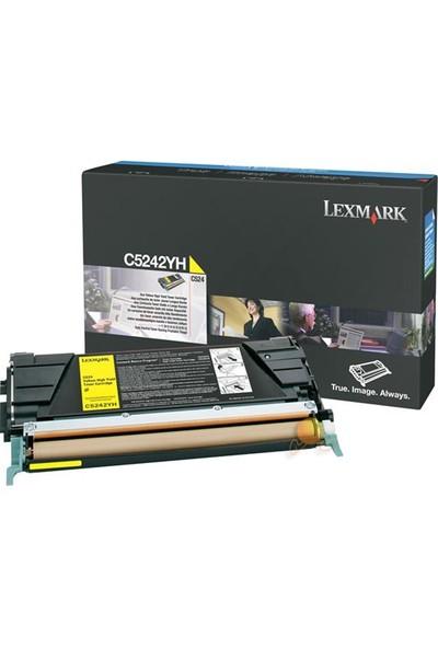 Lexmark C5240YH 5000 Sayfa Kapasiteli Sarı Toner