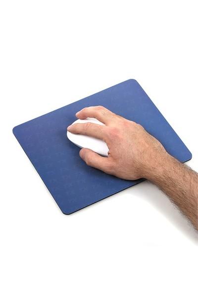 TX Flat Line Yarı Sert Üst Yüzeyli Slim Mavi MousePad (240x200mm)(TXACMPAD03BL)