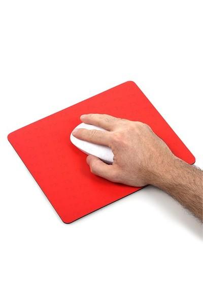 TX Flat Line Yarı Sert Üst Yüzeyli Slim Kırmızı MousePad (240x200mm)(TXACMPAD03RD)