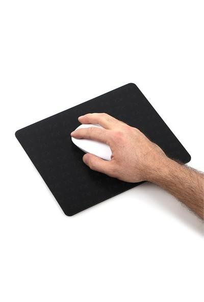 TX Flat Line Yarı Sert Üst Yüzeyli Slim Siyah MousePad (240x200mm)(TXACMPAD03)