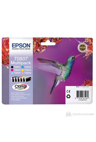 Epson C13T08074021 / T0807 6' lı Multipaket Mürekkep Kartuş