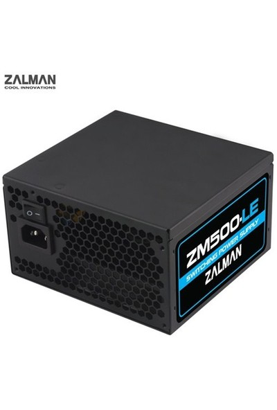 Zalman ZM500-LEII 500W 12cm Fanlı Power Supply