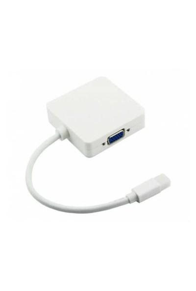Microcase Mini Displayport To Hdmı+Vga+Dvı Adaptör Kablo