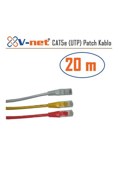 V-Net CAT5e UTP 20m Patch kablosu