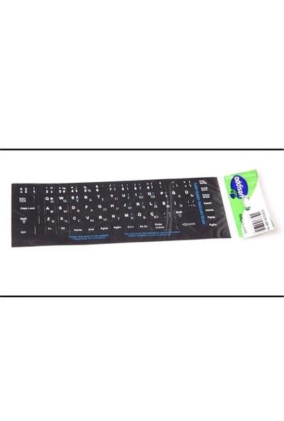 Addison 300169 Rusça Q Siyah Klavye Stiker