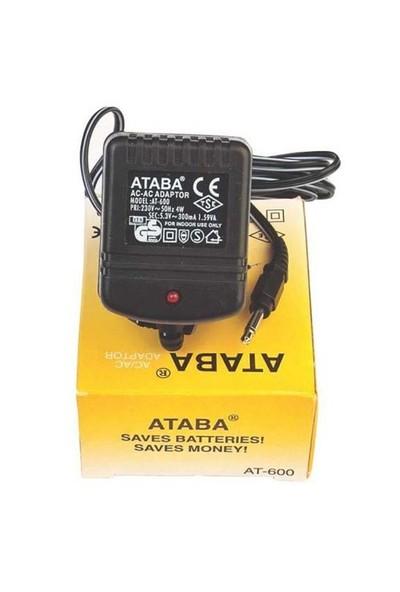 Ataba At-600 3W, 5.3V 300Mah Ac-Ac Süpürge Adaptör