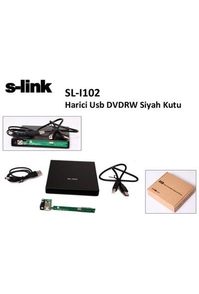 S-Link Sl-I102 Harici Usb (Ide) Dvdrw Siyah Kutu