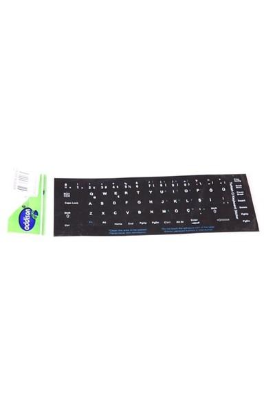 Addison 300161 Türkçe Q Siyah Klavye Stiker