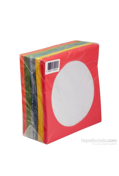 Cd Zarfı 80Gr Pencereli Renkli Kağıt 100Lük