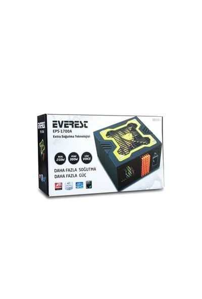 Everest Eps-1700A Peak-300W Extra Soğutucu 12Cm Sarı Fan Oyuncu Power Supply