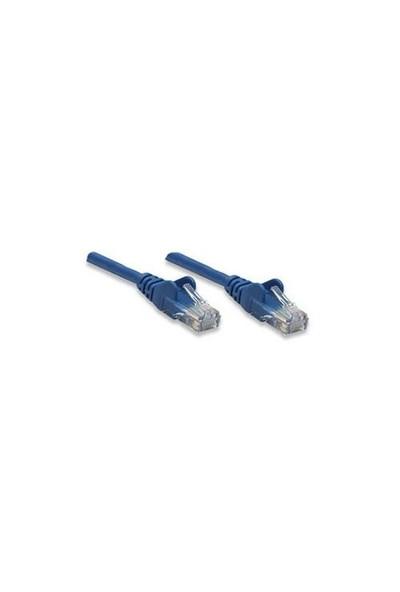 Intellinet CAT5e 1mt Mavi UTP Patch Kablo 318938