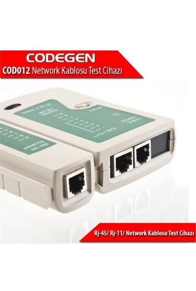 Codegen RJ45 RJ11 RJ12 Network Kablo Test Cihazı COD012