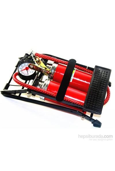 AutoCet Basınç Göstergeli ÇİFT PİSTON Ayak Pompası 4204a