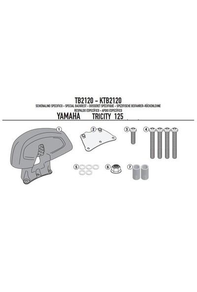 Gıvı Tb2120 Yamaha Trıcıty 125 (14-15) Sıssybar