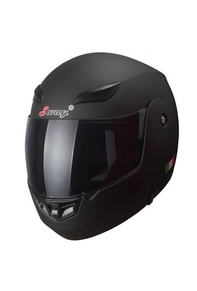Sway 920 Europe Design Çene Açılır Siyah Kask