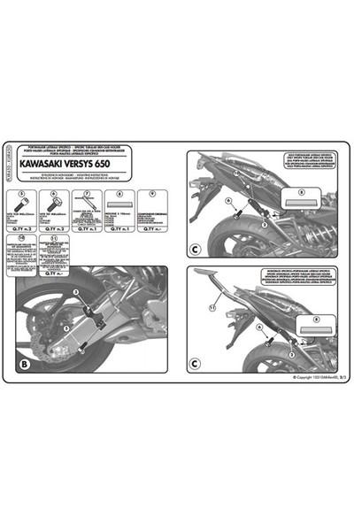 Gıvı Plxr450 Kawasakı Versys 650 (10-14) Yan Çanta Tasıyıcı