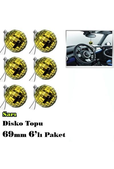 Automix 6Lı Disko Topu Paketi 69 Mm Sarı
