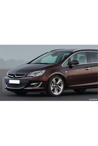 S-Dizayn S-Dizayn Opel Astra J Krom Ön Tampon Çıtası 2012 ve Üzeri Makyajlı