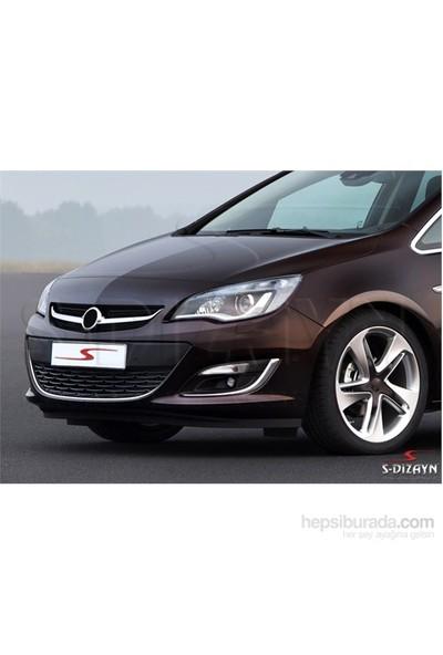 S-Dizayn S-Dizayn Opel Astra J SD 2012 Üzeri Krom Sis Farı Çerçevesi 2 Prç Krom Paslanmaz Çelik