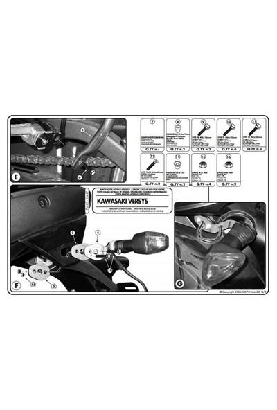 Kappa Kl447 Kawasakı Versys 650 (06-09) Yan Çanta Tasıyıcı