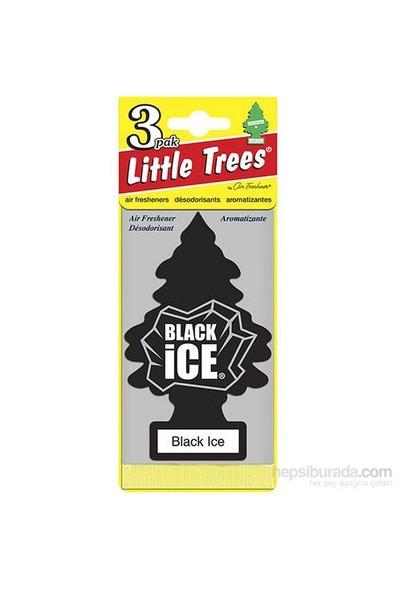 Little Trees Black Ice 3'Lü Paket
