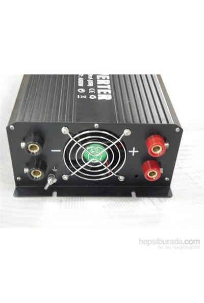 Space İnverter Dönüştürücü Usb'li 12V-220V 3000Watt Icca25
