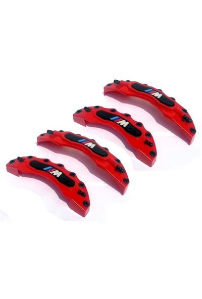 Jdm Kaliper Kapağı M Plasto Set 4'Lü Kırmızı Beyaz