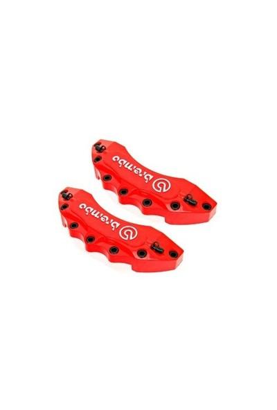 Jdm Kaliper Kapağı Brembo Kabartma Yazılı Küçük Kırmızı Beyaz