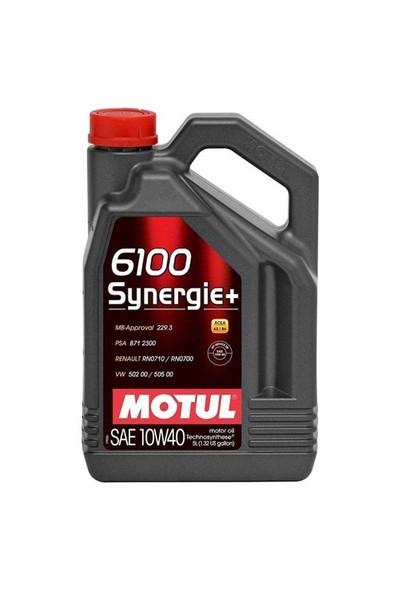 Motul 6100 Synergıe+ 10W40 5 Litre ( Üretim Tarihi:2019 )