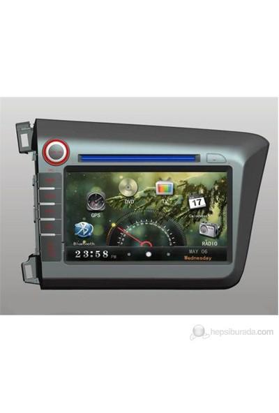 For X-4601 Honda Cıvıc Navigasyonlu Multimedya Sistemi(2012-2013 Model Araçlar İçin)