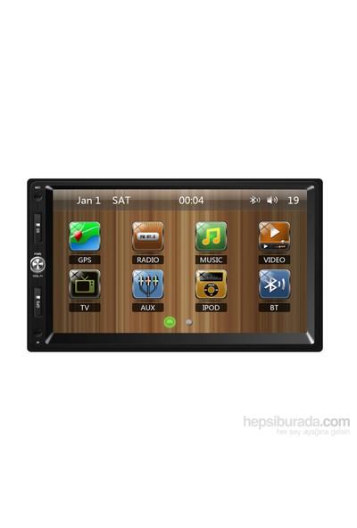 FOR X-507 Üniversal Double Multimedya Sistemi(Bluetooth-GPS-TV-SD-MMC)