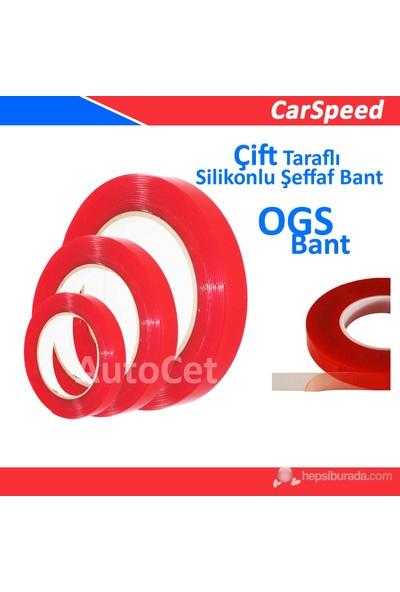 CarSpeed Çift Taraflı Silikon Şeffaf Bant ( OGS ) 10 mm x 5 Metre