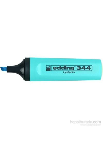 Edding (E-344) Fosforlu Kalem Mavi 10 Lu